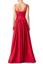 Red Akane Gown by nha khanh