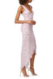 Floral Drape Front Dress by Nicholas