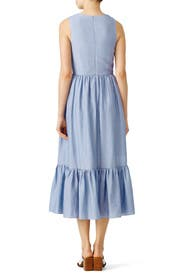 Blue Tie Maxi Dress by Shoshanna