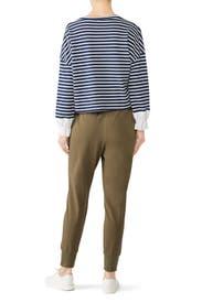 Striped Cuff Sweatshirt by KINLY