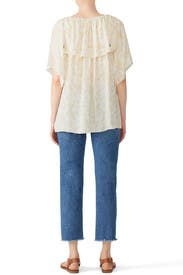 Yellow Ruffle Blouse by See by Chloe