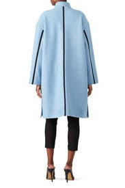 Blue A-Line Coat by Derek Lam 10 Crosby