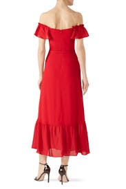 Cherry Red Butterfly Dress by Reformation
