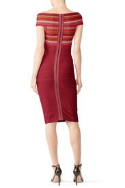 Red Combo Bandage Sheath by Hervé Léger