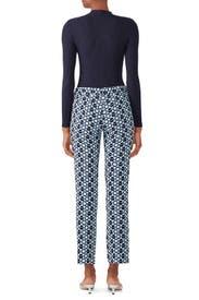 Blue Jacquard Pants by DEREK LAM