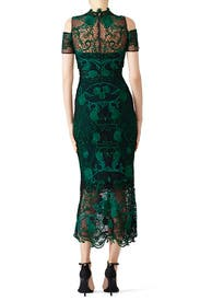 Green Lace Cocktail Dress by Marchesa Notte