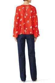 Juliette Shirred Top by B Collection by Bobeau