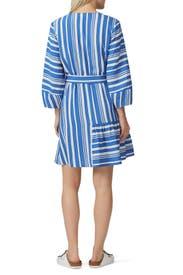 Striped Parasol Dress by Chinti & Parker