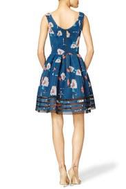 Blue Bloom Mesh Dress by Sachin & Babi