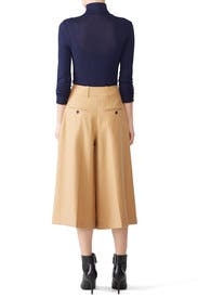 Oversized Beige Culottes by Jil Sander Navy