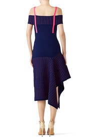 Navy Cold Shoulder Midi Dress by Jason Wu Collection