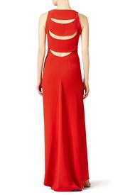 Red Alda Gown by Osman