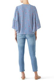 Kelsey Flutter Sleeve Top by B Collection by Bobeau