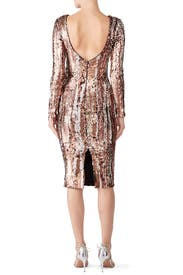 Bronze Sequin Emery Dress by Dress The Population