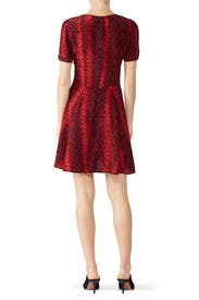 Snake Print Button Dress by The Kooples