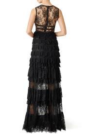 Black Lace Shannon Gown by ML Monique Lhuillier