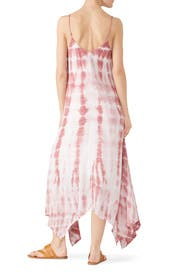 Tie Dye Handkerchief Hem Dress by Fifteen Twenty
