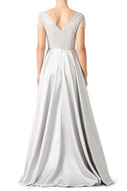 Silver Harmony Gown by nha khanh