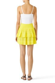Yellow Lilo Skirt by Ramy Brook