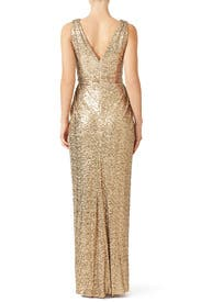 Gold Glitz Gown by Badgley Mischka