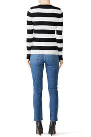 Striped Haven Ribbed Sweater by Cynthia Rowley