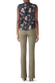 Printed Tab Flare Trousers by Derek Lam 10 Crosby