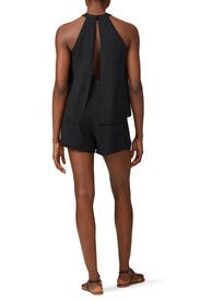Black Halter Neck Romper by krisa