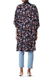 Contrast Collar Kimono by B Collection by Bobeau