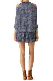Blue Mosaic Printed Dress by Derek Lam 10 Crosby