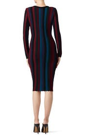 Chevron Vertical Stripe Dress by Milly