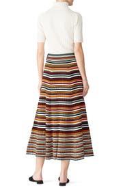 Multi Striped Wrap Skirt by 3.1 Phillip Lim
