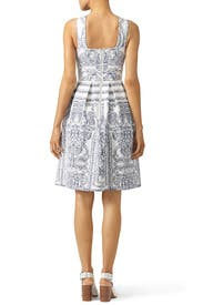 Porcelain Criss Cross Dress by ELLIATT