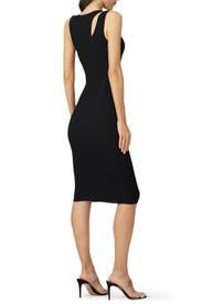 Bold Shoulder Knit Dress by GOOD AMERICAN