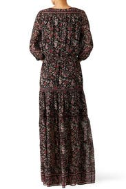 Navy Clover Maxi Dress by Joie