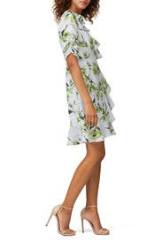 Floral Faux Wrap Dress by Adrianna Papell