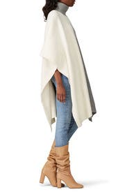 Colorblock Oversized Poncho by Co
