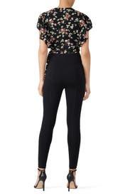 Black Floral Crop Top by Jill Jill Stuart