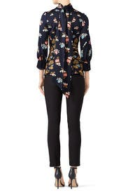 Silk High Neck Blouse by Peter Pilotto