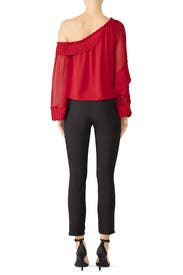 Red Aurora Top by Ramy Brook