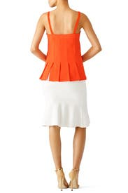 Orange Yelina Top by Trina Turk