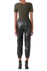 Leather Eavan Pants by Parker