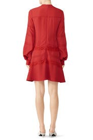 Red Lace Panel Shift by Derek Lam 10 Crosby