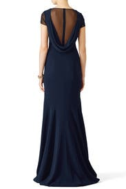 Navy Smooth Mermaid Gown by Theia