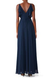 Navy Cassie Gown by Jenny Yoo
