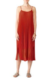 Paprika Pleated Cami Dress by VINCE.
