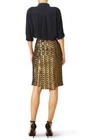Bronze Chevron Skirt by Hunter Bell
