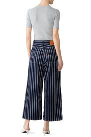 Ribcage Pleated Crop Jeans by Levi's
