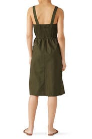 Green Button Front Dress by Moon River