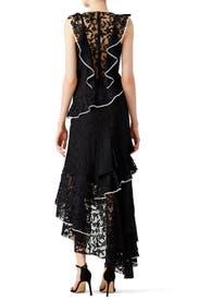 Black Lace Contrast Dress by Sachin & Babi