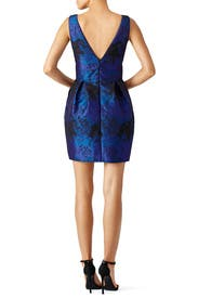 Blue Speckled Jacquard Dress by Nicole Miller
